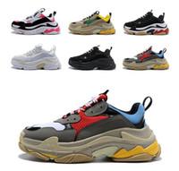 Triple S de diseño de lujo Casual Zapatos París 17FW baja Old Dad la zapatilla de deporte de combinación soles botas para mujer para hombre de moda los zapatos Tamaño 36-45