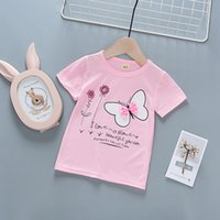 good quality baby girl print tshirt 2019 new kids o neck cot...