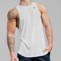 Homens tanque Top Colete de Fitness Impressão 2019 Moda Gyms Singlet Canotte Musculação Stringer Muscle Guys Sem Mangas Colete