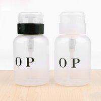 NA030 Yeni Nail Art Pompa Boş Doldurulabilir şişeler 200ML Nail Art Cila Sökücü Temizleyici Sıvı Plastik Dispenser Şişe Sprey boşaltın