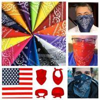 Bandana Paisley Gesichtsmaske Kopf Wrap Baumwollschal Hals Gaiter Cover Armee Camo Multifunktionale Reiten Fahrrad Headscarf FY7042