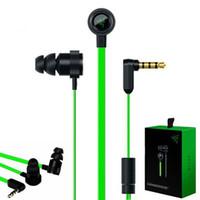 Mikrofon ile Kutu Kulak Oyun kulaklık Gürültü İzolasyon Stereo Bass 3,5 mm ile kulak içi kulaklık içinde Razer Çekiç Pro V2 Kulaklık