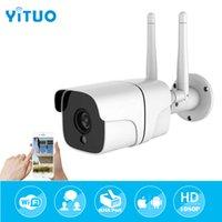 الهوائي المزدوج HD 1080 وعاء wifi لاسلكي IP CCTV 2.0MP كاميرا الصوت في الهواء الطلق IP65 للماء الأمن المنزلية مراقبة رصاصة كاميرا دعم TF C