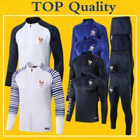 Survetement France Tracksuit Jacket 2020 Mens Soccer Trainin...