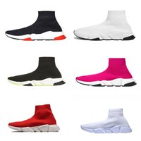 Moda Speed ​​Trainer Sock Sapatos Homens Mulheres Triplo Black Red White Glitter Volt Trainers Runners Sports Casual Sneakers 36-45