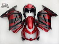 Anpassa injektion Kinesiska Fairings Kit för Kawasaki Ninja 250R 2008-2014 Röda flammor Motorcykel ABS Fairing Kits ZXR250 EX250 08-14 AB25