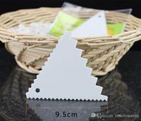 Plástico triangular triangular lâmina de alimentos pp material de creme de creme scraper triângulo raspador de cozimento com serrawtooth