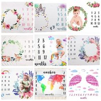 Baby Milestone Blankets Newborn Photography Background Circu...