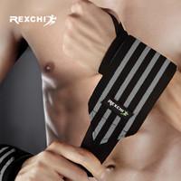 Gym Fitness Halterofilismo Braçadeiras Powerlifting Pulseira Suporte Elastic Wrist Wraps Bandagens Brace para Segurança Sports