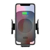 아이폰 8 플러스 X 삼성에 대한 빠른 무선 자동차 충전기 10W 자동 Infrare 유도 에어 벤트 자동차 전화 홀더 C10 / C9 C11 QI