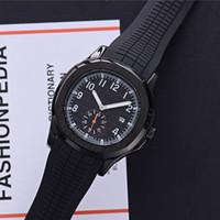 최고 판매하는 스위스의 브랜드 mens 시계 석영 운동은 작은 다이얼 노틸러스 작업 디자이너 시계를 방수 처리합니다 고무 밴드 reloj de lujo 시계