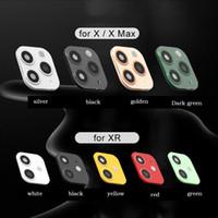 كاميرا معدن عدسة الثانية تغيير للحصول على 11 برو ماكس زجاج حامي الدائري لتغطية اي فون X XS MAX ملصق 100pcs التي وهمية كاميرا