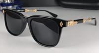 جديد شعبية ريترو الرجال النظارات الميليس الشرير نمط مصمم الرجعية مربع الإطار مع جلد مربع طلاء عاكس مكافحة uv عدسة أعلى جودة