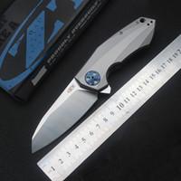 L'alta qualità coltello pieghevole Zero Tolerance ZT0456 cuscinetto a sfere coltello da tasca 60HRC della maniglia di titanio Utility di caccia di campeggio di sopravvivenza della lama di EDC
