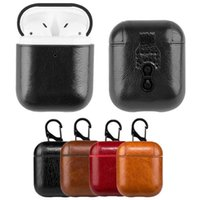 Leather Bag For luxury designer airpods cases Bluetooth Wire...