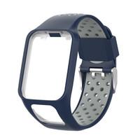 Bracelet de montre en silicone bicolore de remplacement pour la montre GPS Tracker pour TomTom Runner 2 3 Spark 3 GPS