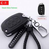 cas de clés de voiture Housse de protection pour Hyundai Elantra Sonata Avante ix25 ix35 ACCENT VERNA TUCSON Porte-clés Porte-clés en métal