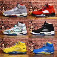 Laney 5s Women Men Basketball Shoes 5 Bred International Fli...