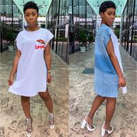 أزياء المرأة نصب منصة خمر فساتين مصمم رسالة فساتين طباعة عارضة البلوز قصيرة الأكمام فساتين ملابس للسيدات