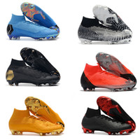 2019 nouveaux chaussures de football pour hommes Mercurial VII Elite CR7 chaussures de football à crampons Ronaldo FG Mercurial Superfly VI 360 chaussures de football en plein air de haute qualité