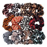 Bandas listrado Leopard Scrunchy Hairbands Mulheres Dot Cabelo Elastic Rubber rabo de cavalo titular Rope Gravatas Meninas Moda Acessórios de cabelo GGA3227-3