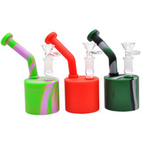 New Colorful Silicone water pipe with downstem detachable ho...