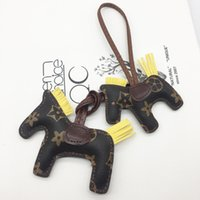 Newest Handmade Leather Letter Horse Keychain Accessories Ta...