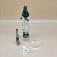 néctar de la nueva ola collectorx establece con un clavo de titanio de 14 mm de un conector plastical un recipiente de vidrio en lugar de paja Bong ff