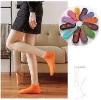 Women Yoga Socks Quick-Dry Anti Slip Silicone Gym Pilates Ballet Socks Fitness Sport Socks Cotton Breathable Elasticity