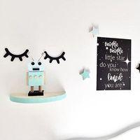 2019 새로운 나무 속눈썹 벽 스티커 데칼 DIY 예술 홈 침실 Kidsroom 침실 장식 만화 귀여운 스티커