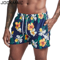 Летние мужские JOCKMAIL Quick Dry Siwmwear Mens Пляж совета Шорты Трусы для мужчин плавок Swim Shorts Пляжная одежда Печатный цветок