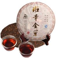ventas calientes 357 g cocido Pu'er maduro torta del té Banzhang brote de oro Negro Puer Shu Cha Siete Hijo de la torta del té
