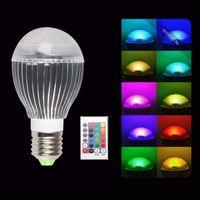 Nuovo arrivo 10W E27 E26 del partito della luce di lampadina 16 che cambia RGB Lamp + IR Remote Control