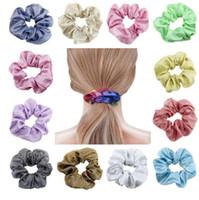 Ins de pelo Scrunchies Conjunto para la Mujer Fuerte elástico Bobbles pelo de la cola de caballo titular Accesorios para el cabello de colores