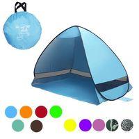 11 colores SimpleTents fácil cargar las carpas camping al aire libre Accesorios para 2-3 personas Carpa protección UV para el recorrido de la playa del césped 10pcs CCA9390