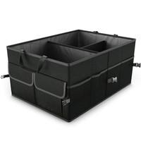 Складной ящик для хранения автомобилей багажник организатор сумка экономия пространства многофункциональный оксфорд ткань переносной контейнер для хранения HHAA47
