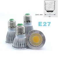 COB projecteurs à LED lumières 3W / 5W / 7W 85-265V MR16 / E27 / E14 / GU5.3 / GU10 LED 12V ampoule blanc chaud blanc froid lampe led lampada