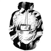 Naruto Hoodie Coat Tişörtü Kakashi Akatsuki Sasuke O'Brien 3D Kapüşonlular Kazaklar Erkekler Kadın Kabanlar Hoodie Ceket Streetwear