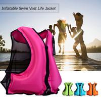 Chaleco salvavidas inflable Chaqueta Adulto Swim chaleco salvavidas snorkel flotante surf natación Deportes de agua ahorro de vida de la chaqueta de traje de baño