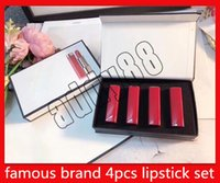 2019 newest Famous brand lip Makeup set 4pcs set Matte lipst...