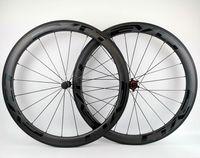 كامل عجلات الكربون 50MM عمق عرض 25MM الكربون العجلات الفاصلة / أنبوبي الطريق دراجة الكربون العجلات مع EVO الشارات السوداء