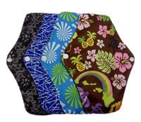 10 pcs bamboo menstrual pads cloth sanitary napkins reusable sanitary pads absorbent reusable charcoal wasbare maandverband