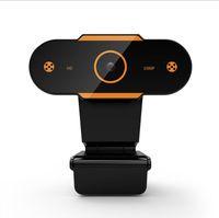 Full HD 1080P 2K USB Webcam mit Mikrofon Mini-Computer-Kamera, Flexible Drehbare für Laptops, Desktop-Webcam-Kamera Online-Ausbildung