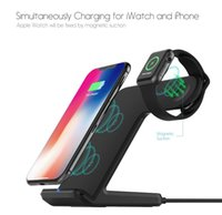 Qi Wireless Charger For Apple Watch 4 3 2 iPhone 8 Plus X Xs...
