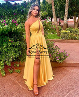 Sexy Keyhole Neck Cheap Prom Dresses 2019 A Line One Shoulde...