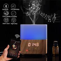 Bluetooth Smart Aroma Huile essentielle Diffuseur fabricant de nébulisateur avec haut-parleur Affichage de l'heure Réveil Humidificateur Air pour la maison