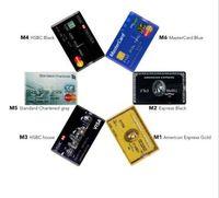 패션 신용 카드 마스터 비자 카드 HSBC 아메리칸 익스프레스의 USB 플래시 드라이브 펜 64기가바이트 32G 8G 16G의 USB 은행 카드 메모리 스틱 펜 드라이브