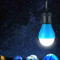 5 colores Carpa 3LED lámpara que acampa de emergencia Luces al aire libre Lámparas Decoración de Navidad colgar las luces de las linternas portátiles ZZA2339 50Pcs