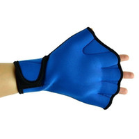 1 paio New Blue Surfing Nuoto Webbed Guanti senza dita Swim Aid Paddle Gloves Prodotti outdoor di alta qualità