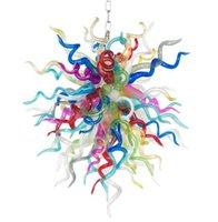 램프 현대 샹들리에 조명 LED 조명 손으로 날아 컬러 샹들리에 아트 장식 고품질 베네치아 유리 펜던트 조명